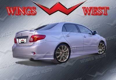 Wings West - Toyota Corolla Wings West VIP Rear Lower Skirt - 890930