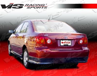 VIS Racing - Toyota Corolla VIS Racing Custom Rear Lip - Polyurethane - 890949