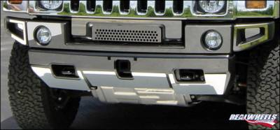 RealWheels - Hummer H2 RealWheels Front Upper & Lower Bumper Overlay Kit (Save on complete set) - Polished Stainless Steel - 12PC - RW105-1-A0102