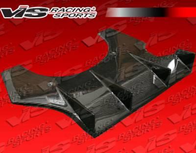 VIS Racing - Subaru WRX VIS Racing Spike Carbon Rear Diffuser - 02SBWRX4DSPK-032C