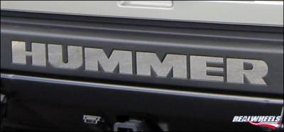 RealWheels - Hummer H3 RealWheels Rear Bumper Letter Inserts - Polished Stainless Steel - Kit - RW110-1-H3T
