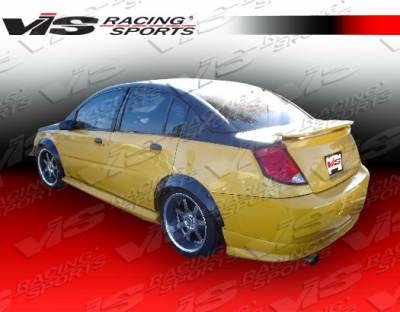 VIS Racing - Saturn Ion VIS Racing Type-W Rear Lip - Urethane Material - 03SAION4DTYW-012