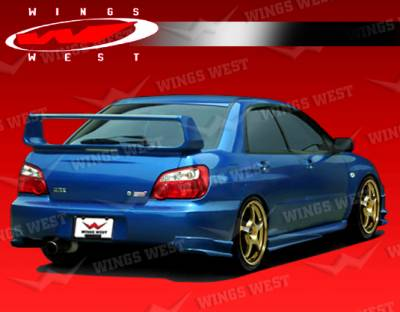 VIS Racing - Subaru WRX VIS Racing JPC Rear Lip - Polyurethane - 04SBWRX4DJPC-012P