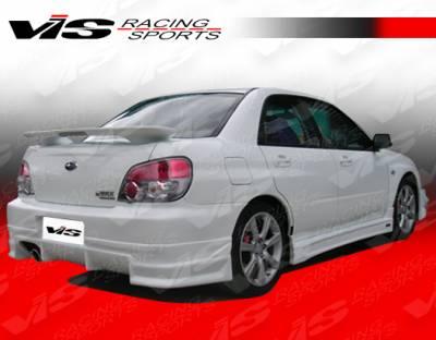 VIS Racing - Subaru WRX VIS Racing J Speed Rear Lip - Polyurethane - 04SBWRX4DJSP-012P