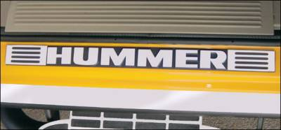 RealWheels - Hummer H2 RealWheels Door Sill Letter Overlays - Polished Stainless Steel - 16PC - RW113-1-A0102