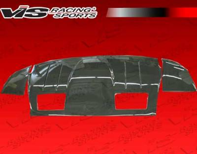 VIS Racing - Ferrari F430 VIS Racing N-Tech Rear Lower Carbon Fiber Diffuser - 05FR4302DNTH-012C