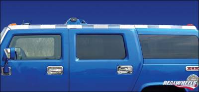 RealWheels - Hummer H2 RealWheels Slotted Top Side Trim - Polished Stainless Steel - 6PC - RW115-2-A0102
