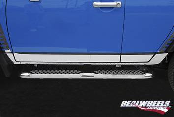RealWheels - Toyota FJ Cruiser RealWheels Rocker Panels - Polished Stainless Steel - 8PC - RW116-1-T0202