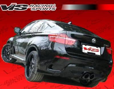 VIS Racing. - BMW X6 VIS Racing Euro Tech Rear Diffuser - 08BME714DET-032