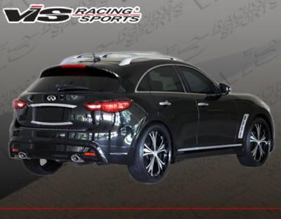 VIS Racing - Infiniti FX VIS Racing RMI Rear Lip - Polyurethane - 09INFX4DRMI-012P