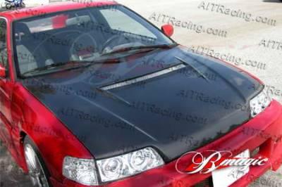 AIT Racing - Honda Civic AIT Racing N1 Style Carbon Fiber Hood - HX88BMN1SCFH