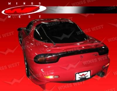 VIS Racing - Mazda RX-7 VIS Racing JPC Rear Aprons - Polyurethane - 93MZRX72DJPC-012P