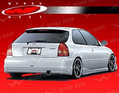 VIS Racing - Honda Civic HB VIS Racing JPC B Rear Lip - Polyurethane - 96HDCVCHBJPCB-012P