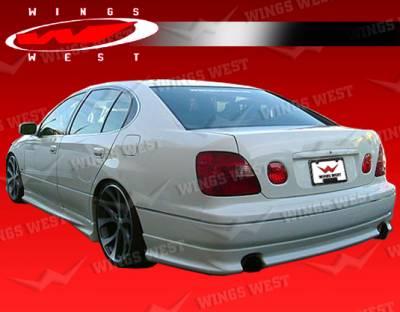 VIS Racing - Lexus GS VIS Racing JPC Type A Rear Lip - Polyurethane - 98LXGS34DJPCA-012P