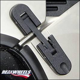 RealWheels - Hummer H2 RealWheels Custom Oversized Hood Latches - Black Powder Coat Billet Aluminum - Pair - RW201-1BP-A0102