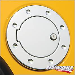 RealWheels - Hummer H3 RealWheels Smooth Non-Locking Fuel Door - Billet Aluminum - 1PC - RW202-1-NA0103