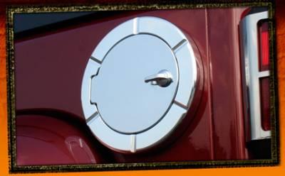 RealWheels - Jeep Wrangler RealWheels Non Locking Fuel Door - Billet Aluminum - 1PC - RW202-2-J