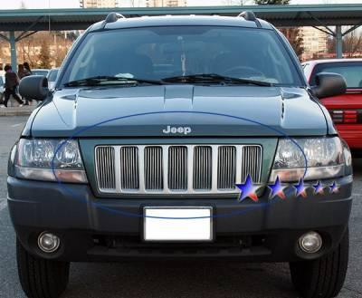 APS - Jeep Grand Cherokee APS Billet Grille - Upper - Aluminum - J85491V