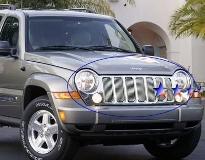 APS - Jeep Liberty APS Billet Grille - Upper - Aluminum - J85496V