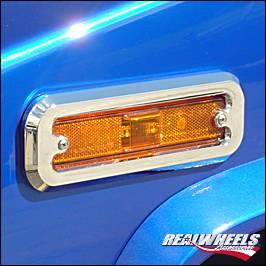 RealWheels - Hummer H3 RealWheels Front Marker Light Trim - Billet Aluminum - Pair - RW207-1-A0103