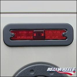 RealWheels - Hummer H2 RealWheels Oversized Side Marker Light Covers - Black Powder Coat Billet Aluminum - 4PC - RW207-1BP-A0102