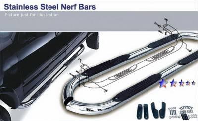 APS - Jeep Wrangler APS Side Step Nerf Bars - JB2106