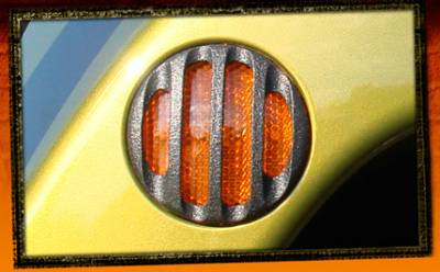 RealWheels - Jeep Wrangler RealWheels Side Marker Light Trim - Billet Black Powder Coat - Pair - RW207-1BP-J