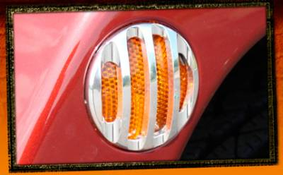RealWheels - Jeep Wrangler RealWheels Side Marker Light Trim - Billet Aluminum - Pair - RW207-1-J