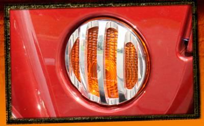 RealWheels - Jeep Wrangler RealWheels Front Marker Light Trim - Billet Aluminum - Pair - RW208-1-J