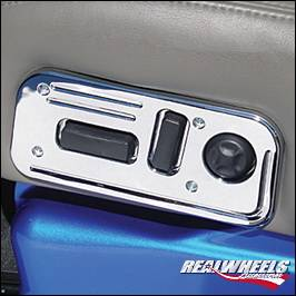 RealWheels - Hummer H2 RealWheels Grooved Seat Control Panel - Billet Aluminum - 1PC - RW214-1-A0102