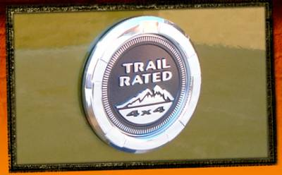 RealWheels - Jeep Wrangler RealWheels Trail Rated Logo Trim - Billet Aluminum - 1PC - RW220-1-J
