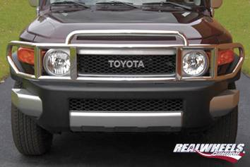 RealWheels - Toyota FJ Cruiser RealWheels Brush Guard - Double-Tier Wrap Around without Inserts - Polished Stainless Steel - 1PC - RW302-1-T0202