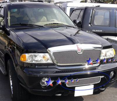 APS - Lincoln Navigator APS Wire Mesh Grille - L75018T