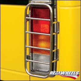 RealWheels - Hummer H2 RealWheels Stainless Steel Rear Taillight Guards - Pair - RW306-1-A0102