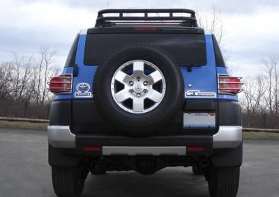 RealWheels - Toyota FJ Cruiser RealWheels Taillgiht Guards - Polished Stainless Steel - Pair - RW306-1-T0202