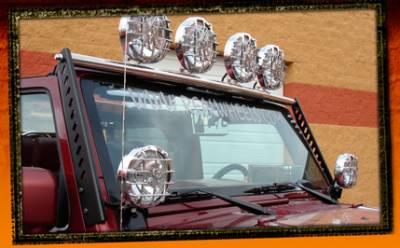 RealWheels - Jeep Wrangler RealWheels Light Bar - 4 Tab - Polished Stainless Steel - 1PC - RW604-1-J