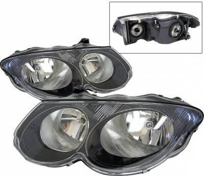 4 Car Option - Chrysler 300 4 Car Option Diamond Headlights - Black - LH-C300M99B