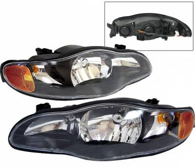 4 Car Option - Chevrolet Monte Carlo 4 Car Option Headlights - Black - LH-CMC00B-KS