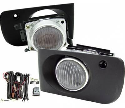 4 Car Option - Acura Integra 4 Car Option Fog Light Kit - Clear - LHF-AI94TRC