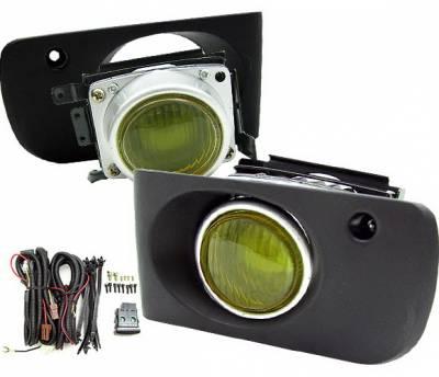 4 Car Option - Acura Integra 4 Car Option Fog Light Kit - Yellow - LHF-AI94TRYL