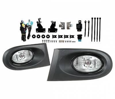 4 Car Option - Acura RSX 4 Car Option Fog Light Kit - Clear - LHF-ARX-1