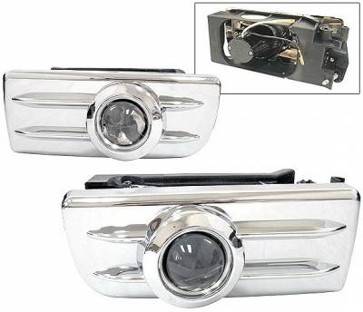 4 Car Option - BMW 3 Series 4 Car Option Projector Fog Light Kit - Kit Chrome - LHF-BE36E