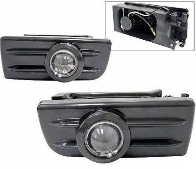 4 Car Option - BMW 3 Series 4 Car Option Projector Fog Light Kit - Kit Black - LHF-BE36JB
