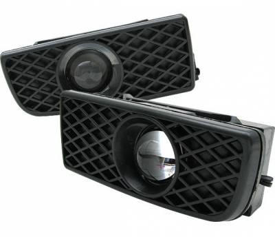 4 Car Option - BMW 3 Series 4 Car Option Projector Fog Light Kit - Kit Black - LHF-BE36JB-YD