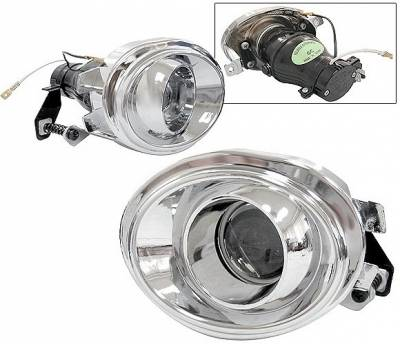 4 Car Option - BMW 3 Series 4 Car Option Projector Fog Light Kit - Kit Chrome - LHF-BE46P