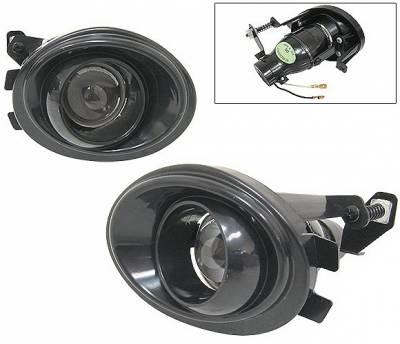 4 Car Option - BMW 3 Series 4 Car Option Projector Fog Light Kit - Kit Black - LHF-BE46PJB