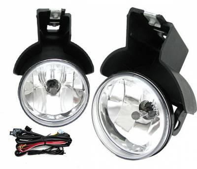 4 Car Option - Dodge Dakota 4 Car Option Fog Light Kit with Bulb & Switch - Clear - LHF-DD97C