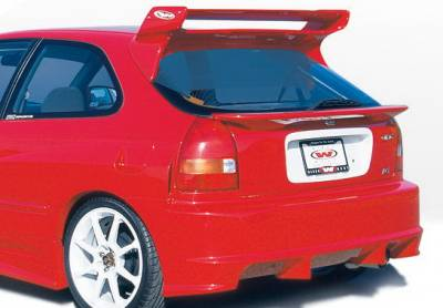 Wings West - Honda Civic HB Wings West GSR Style Rear Bumper Cover - Fiberglass - 490180