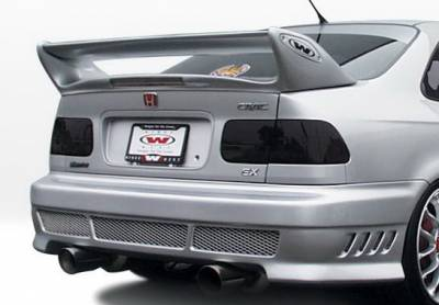 Wings West - Honda Civic 2DR & 4DR Wings West Avenger Rear Bumper Cover - 890392