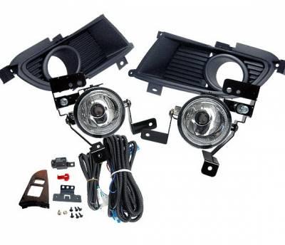 4 Car Option - Mitsubishi Evolution 8 4 Car Option Fog Light Kit - Clear - LHF-EVO